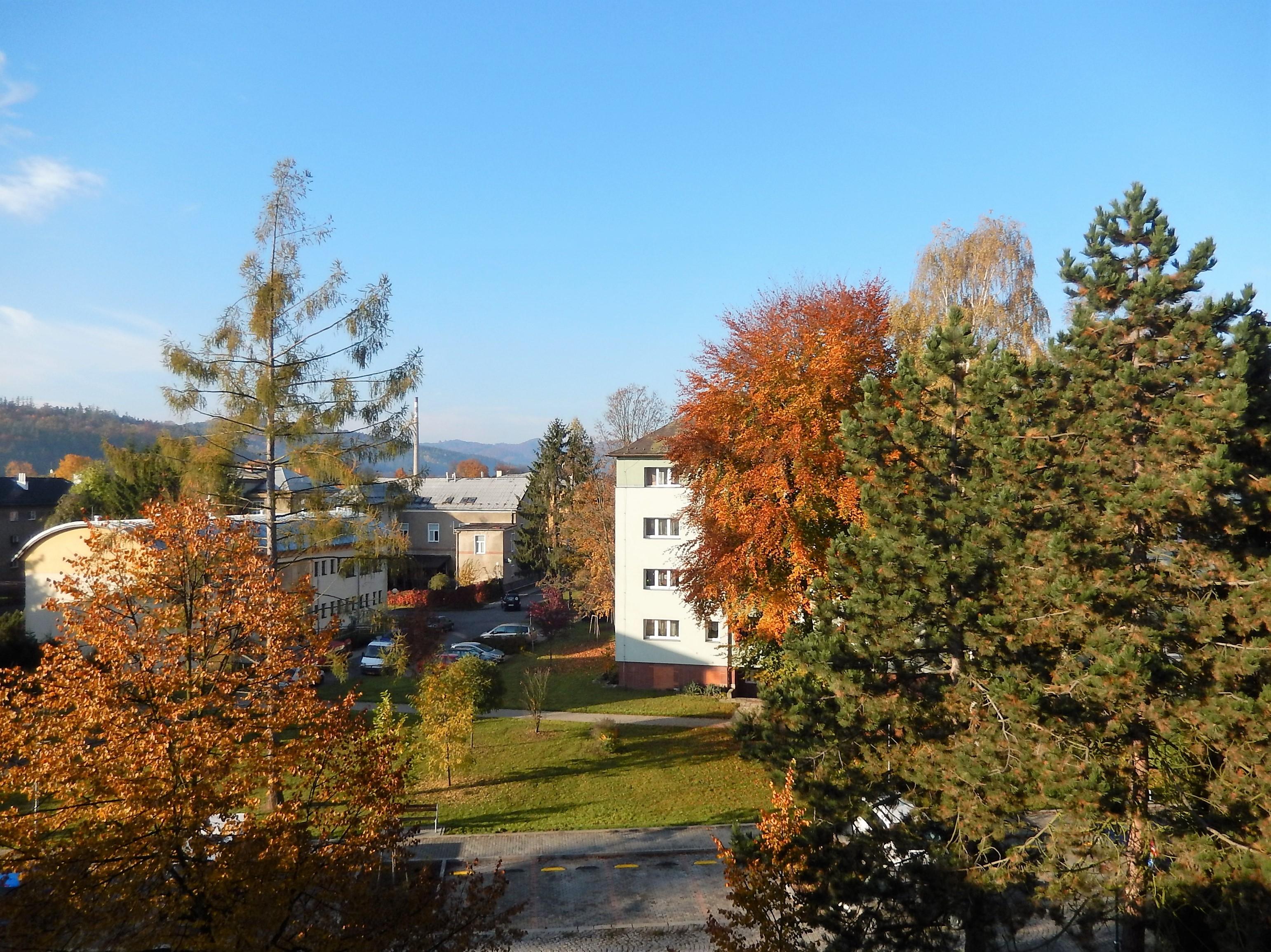 Podzim ve městě.